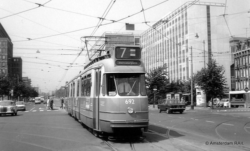 Amsterdam: GVB 692 in Wibautstraat -1969 | by Amsterdam RAIL