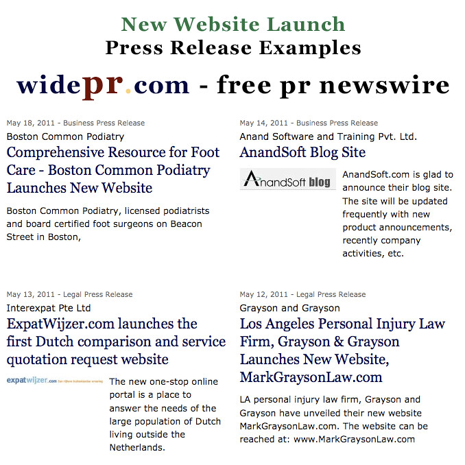 New-Website-Launch-Press-Release-Examples-–-Free-PR-Distri… | Flickr