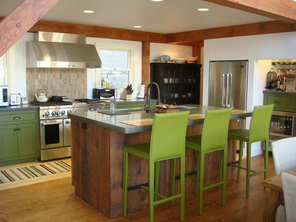... Contemporary Post U0026 Beam Kitchen | By Yankee Barn Homes