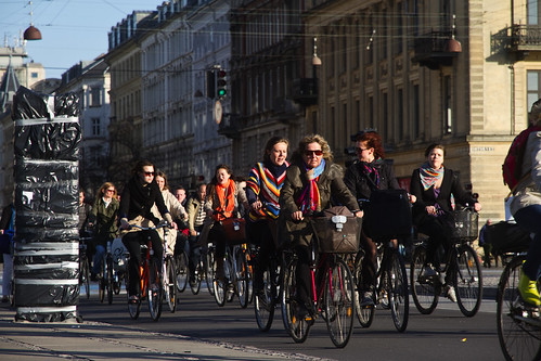 Bicycle Rush Hour Copenhagen - Autumn | by Mikael Colville-Andersen