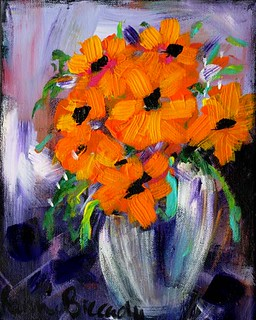 Impressions in a Vase -Orange Flowersresized24x30 | by Ronnie Biccard