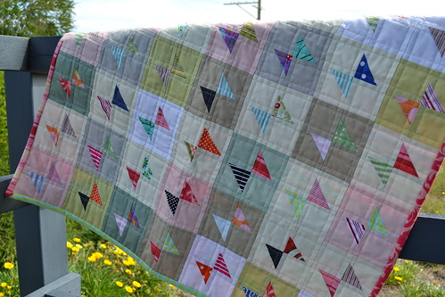 Mini scrappy bowtie quilt | by sew&sews