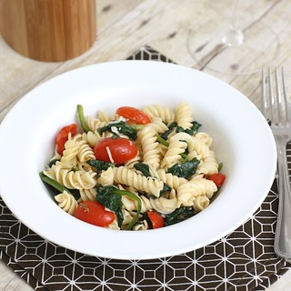 Fusilli with Spinach and Asiago Cheese | by Tracey's Culinary Adventures