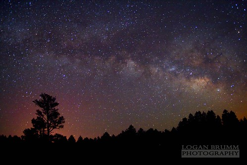 Milky Way Over Scholz Lake, Flagstaff Arizona | by Logan Brumm Photography and Design