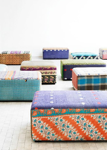 antique quilt ottoman from hay | by the style files