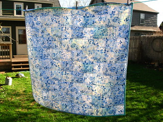 modern vintage quilt--back | by quirky granola girl