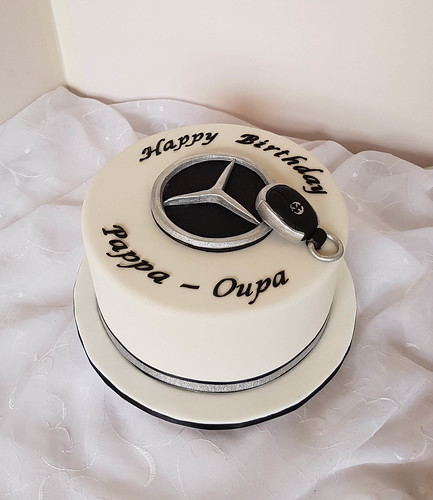 Mercedes themed birthday cake willi probst bakery flickr for Mercedes benz birthday cake