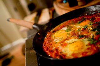 Shakshuka with Isla at Home - 9th April 2012 | by The Hungry Cyclist