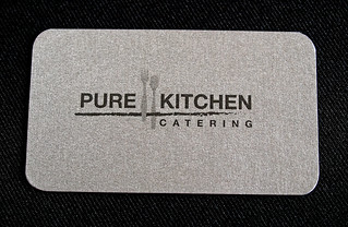 Pure Kitchen Catering Business Card - Back | by ericksondesign
