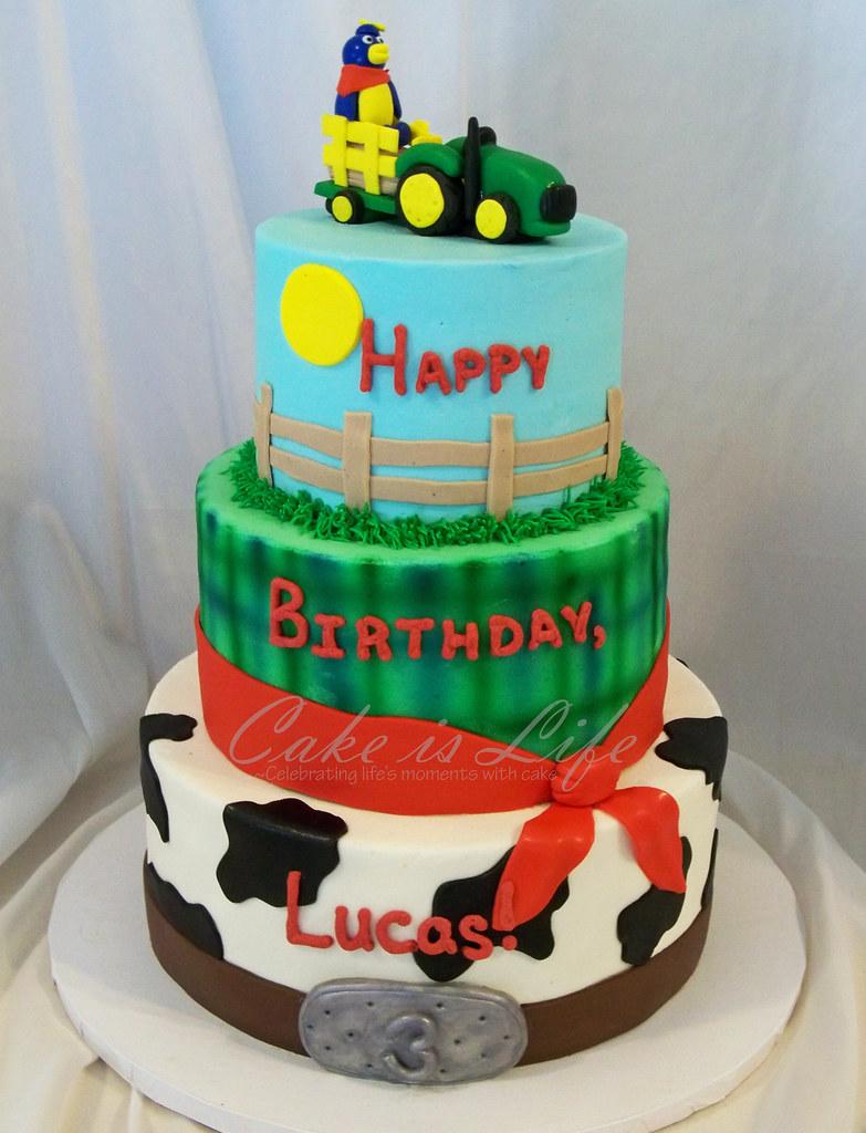 Farm Birthday Cake 072011 Flavor Was Yellow Buttermilk C Flickr