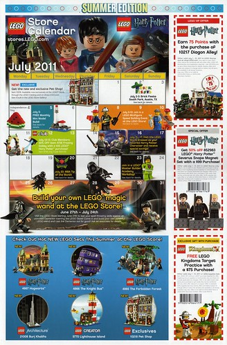 LEGO Store Calendar July '11 - Front | by TooMuchDew