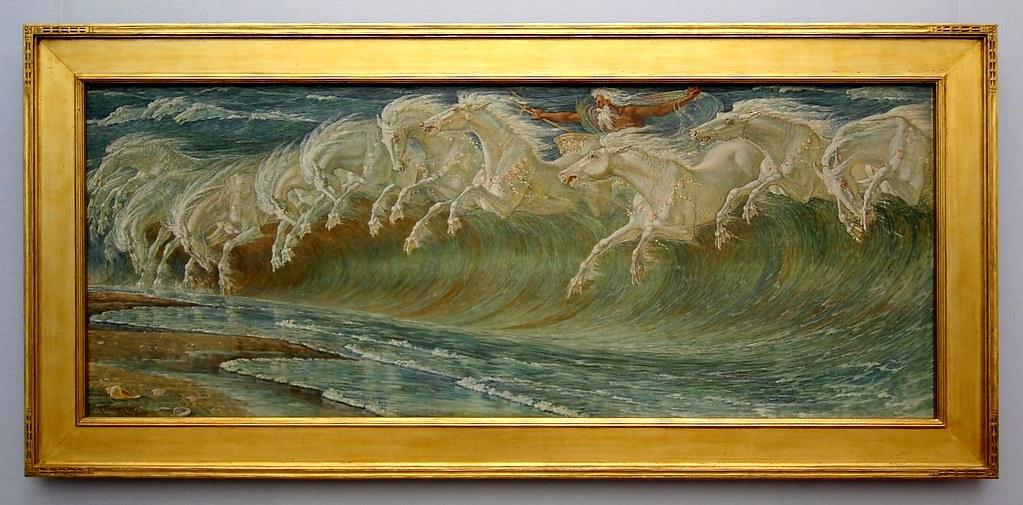 Neptune'-s Horses, 1892 Giclee Print by Walter Crane at Art.com
