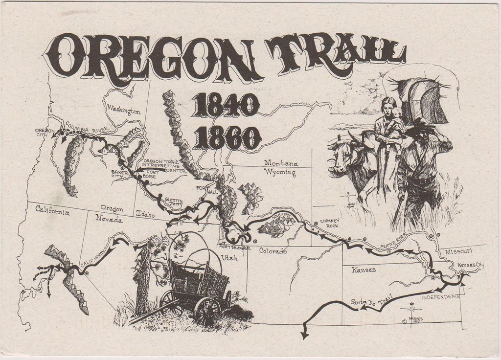 Oregon Trail Map   This map shows the actual route that the …   Flickr