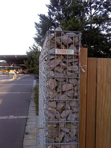Mur de cl ture en gabion pixeltoo flickr - Mur de cloture en gabion ...