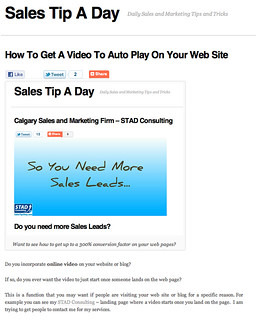 how to get to auto play video