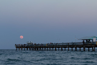 Supermoon over Commercial Pier | by daspader