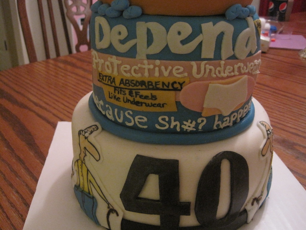40th Birthday Cake Depend Underwear Wguillot Flickr