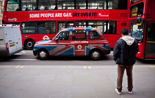 """Some People Are Gay. Get Over It"" Double Decker Bus Ad - London, UK 