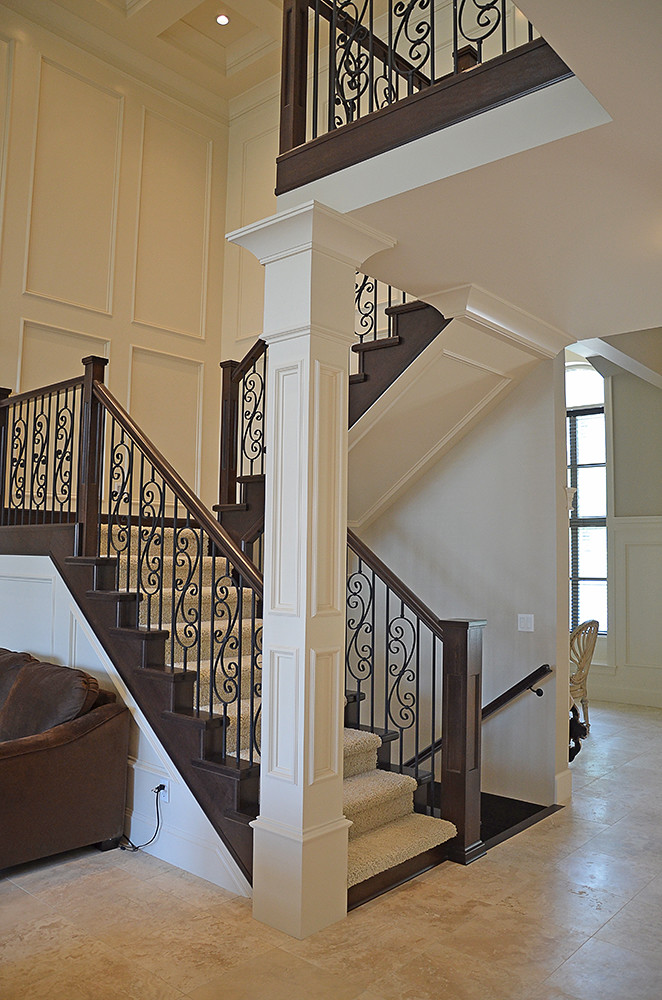 By Nucasa Staircase Newel Posts In Open Concept Staircase. | By Nucasa