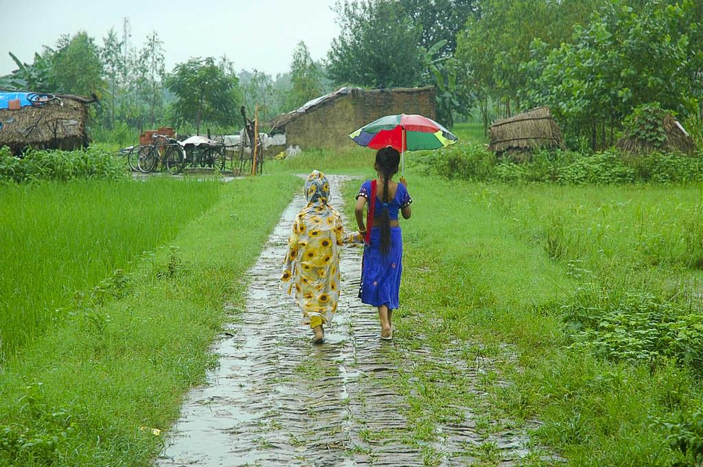 Image result for village rain
