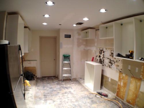 Upper Cabinets In White Kitchen