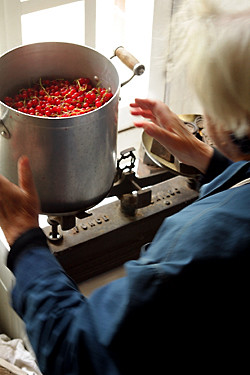 weighing red currants | by David Lebovitz