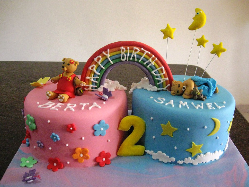 Twin Cake Twin Cake For Two Twins A Boy And A Girl Marvic Attard