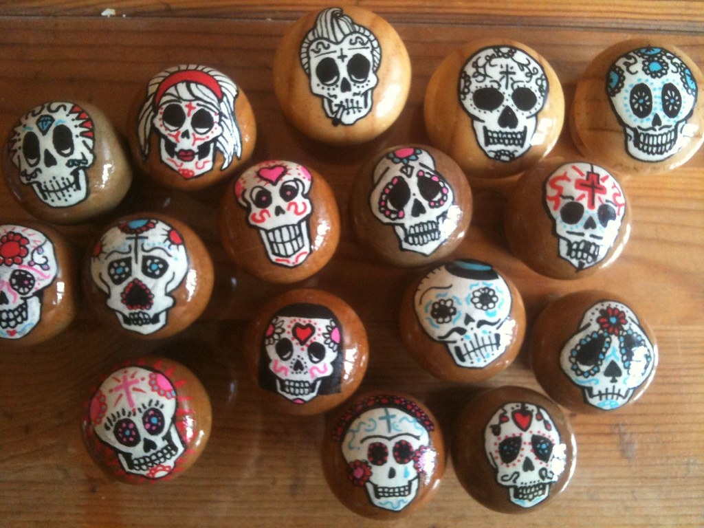 Mexican door knobs | Day Of The Dead door knobs for our new … | Flickr