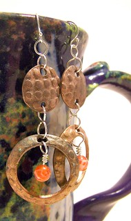 Antique Bronze & Agate Earrings - $20 | by MimiUrb