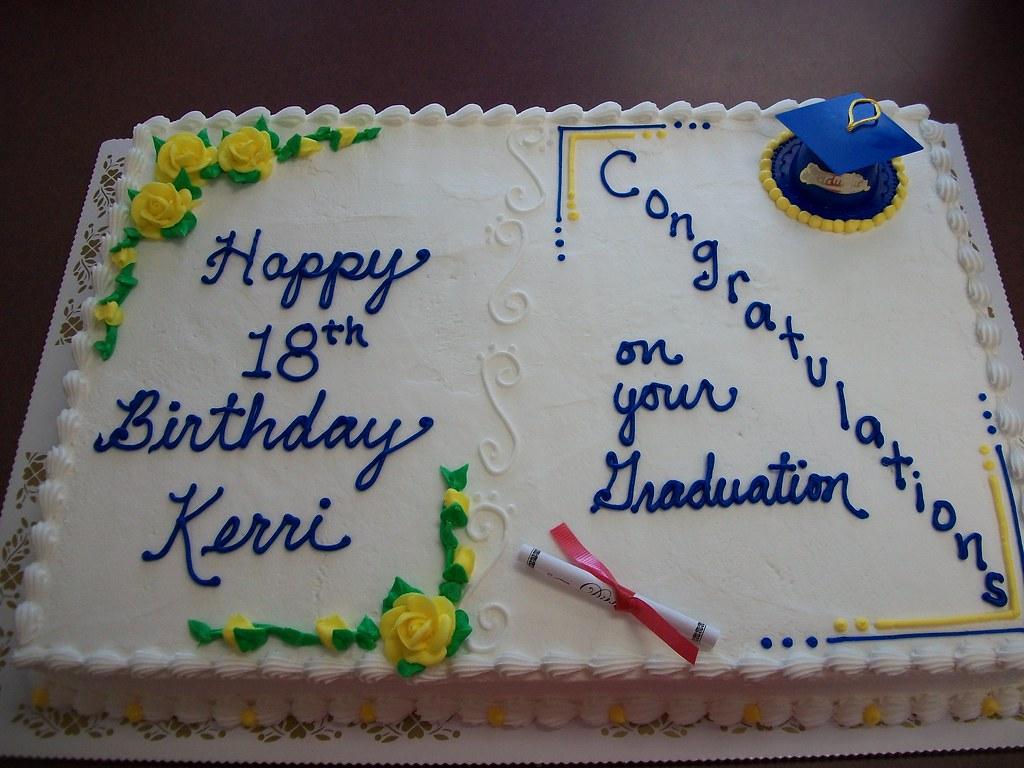 Birthday Graduation Cake Lindas Kitchen Flickr