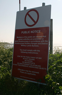 The Broomway warning notice | by JonCombe