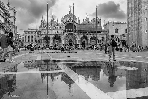 Rain water reflection of Basilica di San Marco (Saint Mark's Basilica) - Venice, Italy | by Phil Marion