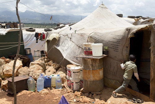 Syrian refugees have found temporary safety in Kafar Kahel informal settlement | by World Bank Photo Collection