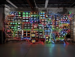 [ P ] Nam June Paik - Electronic Superhighway.  Continental US, Alaska & Hawaii (1995) | by Cea.