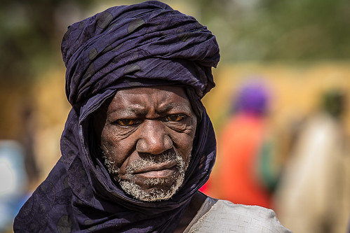Portrait of a Touareg in Gorom Gorom market goats, in the tribal region of the Sahel, northern Burkina Faso | by anthony pappone photography