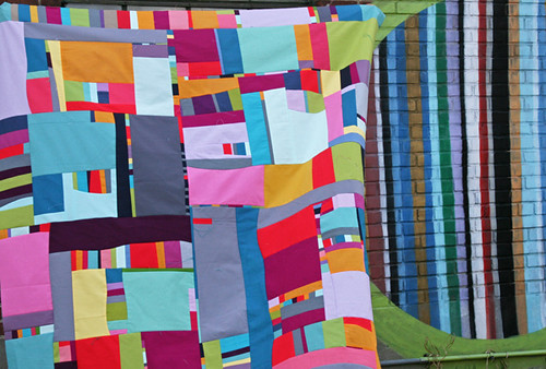 improv solids quilt top | by filminthefridge