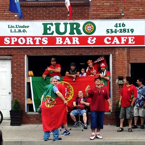 For the duration of Euro 2012, I live in party zone central. #euro #toronto #portugal | by ardenstreet
