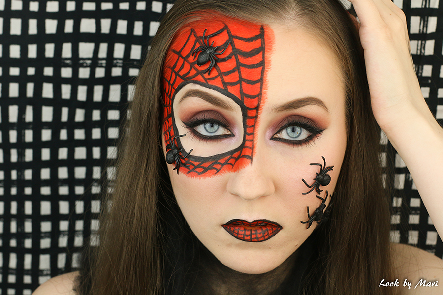 1 Spiderwomen halloween costume makeup tutorial