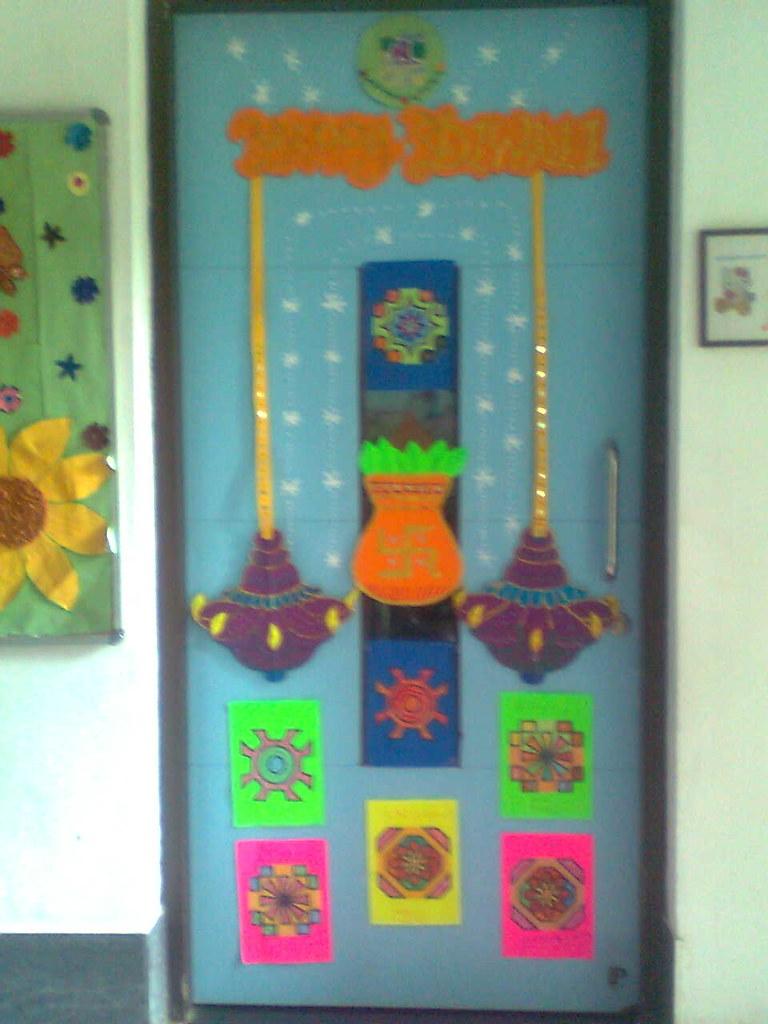 Diwali board decoration | rekha vyas | Flickr for diwali decoration ideas for school on board  156eri