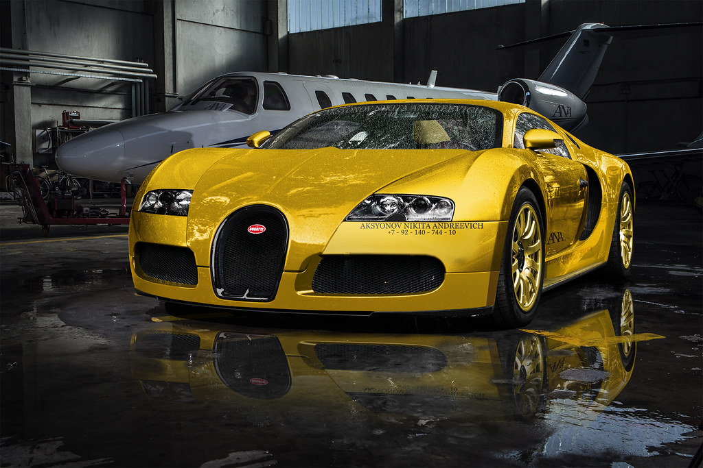 ... Golden Glory Bugatti Veyron | By Nike_747