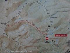 Map at the Mt. Elbert, CO, Trailhead