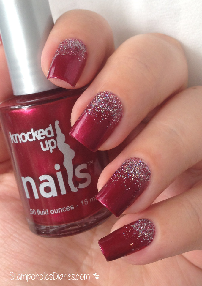 knocked up nails One glass a week, Lil angel glitter gradi… | Flickr