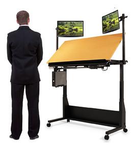Standingdraftingtabledeskdownhightablevsshorttabl Flickr - Drafting table standing desk