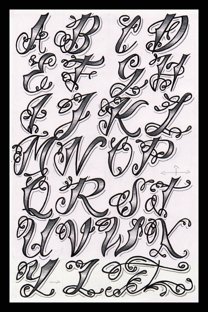 Cholo tattoo alphabet as someone who is interested in both flickr cholo tattoo alphabet by nic hilditchart thecheapjerseys Images