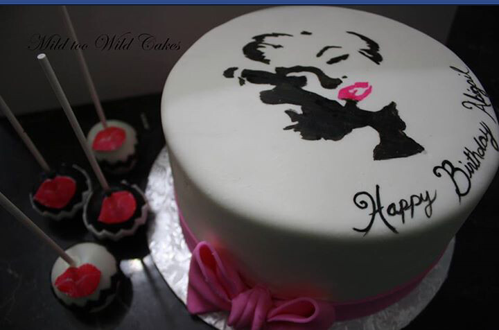 Marilyn Monroe Cake I Made This Cake Using A Silhouette Pr Flickr