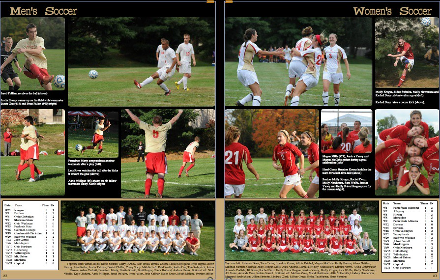 yearbook soccer pages screenshot otterbein university flickr