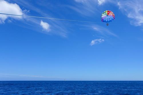Parasailing off Honolulu