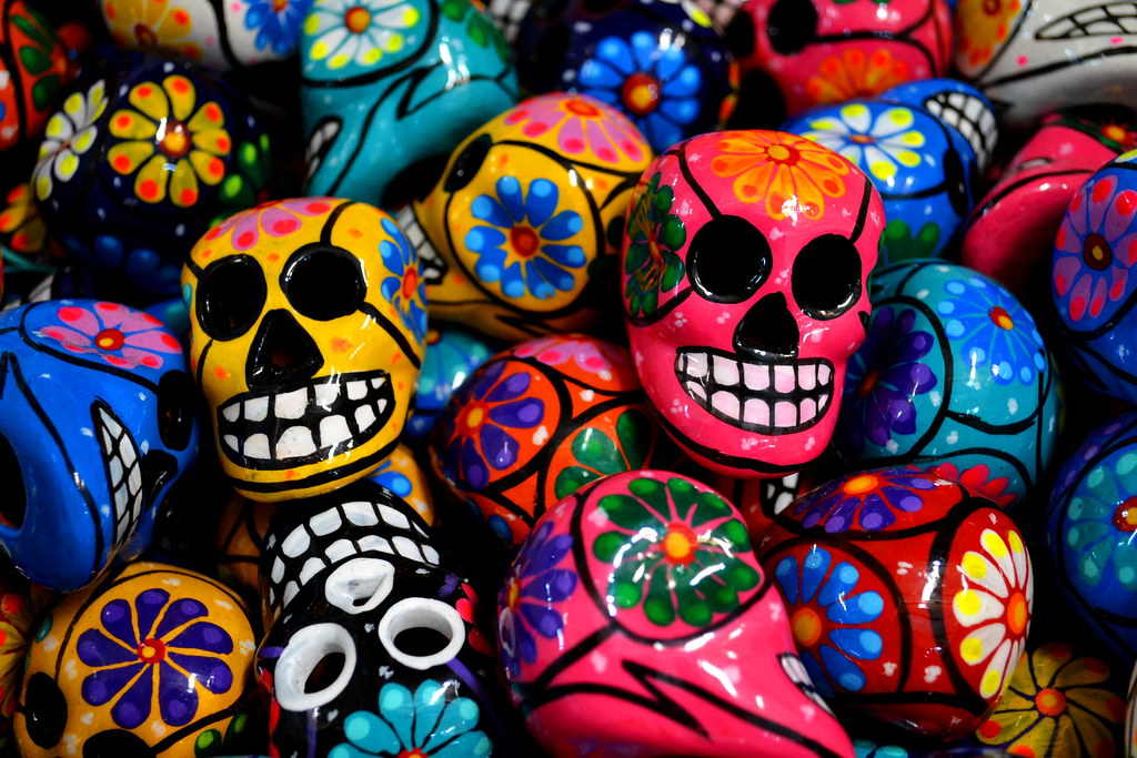 mexican skulls colorful mexican skulls on display made of flickr