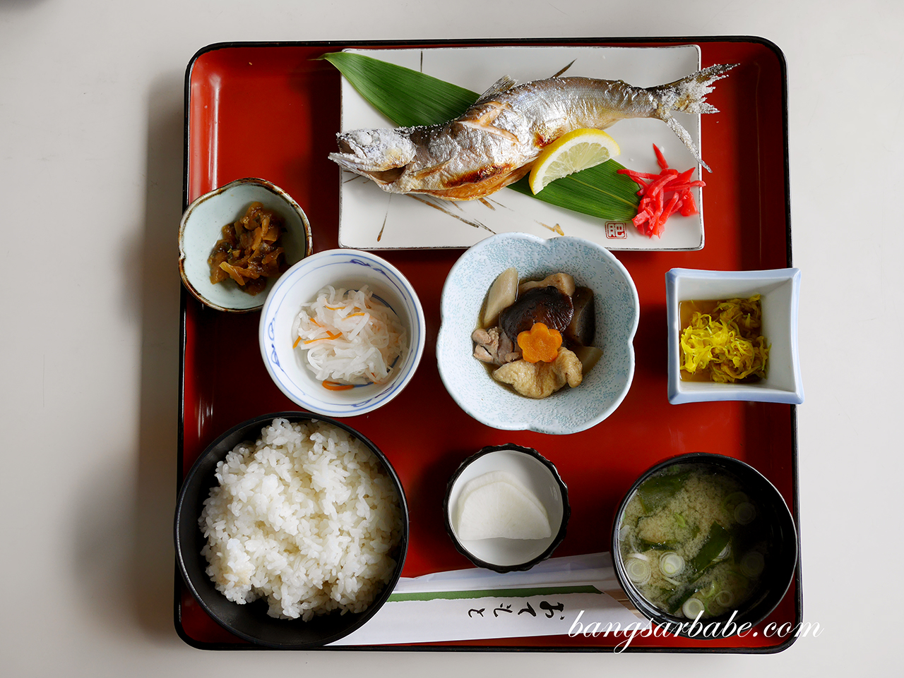 Grilled fish set at Mizuumi-tei