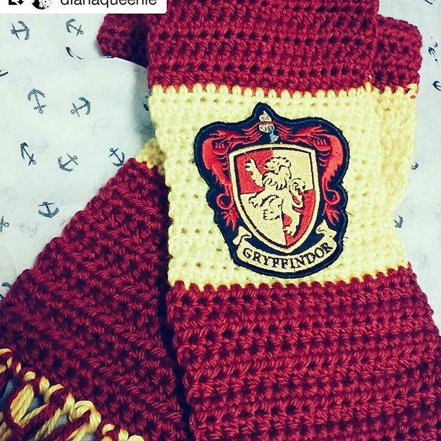 Gryffindor Scarf Crochet Hogwarts Scarves Facebookali Flickr